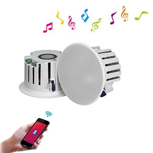 BeneGlow® Un par de altavoces estéreo de alta fidelidad de 6.5 'Hi-Fi Bluetooth V4.0 con amplificador incorporado y alimentación