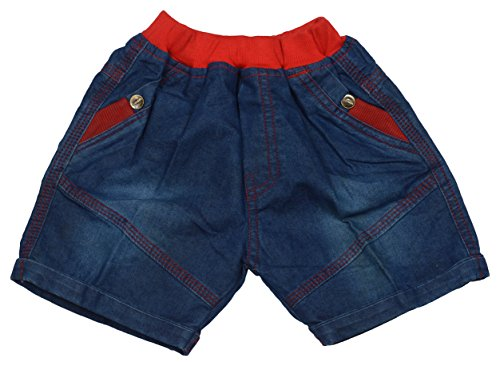 Olio Kids Baby Boys' Denim Shorts (500-Denim Half Pant-Red--18-24 ...