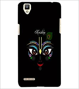 PrintDhaba Lord Krishna D-1051 Back Case Cover for OPPO F1 (Multi-Coloured)