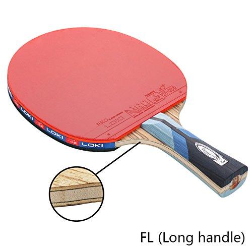 Wood Carbon 5 Stars Table Tennis Racket Professional Ultra Lightweight Ping  Pong Bats Offensive (FL 0f0c16705f4bd