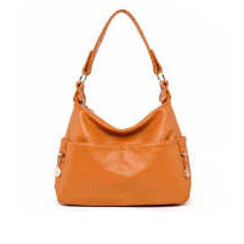 WU Zhi Frauen Mittleren Alters Handtaschen Schulter Diagonal-Paket Yellow