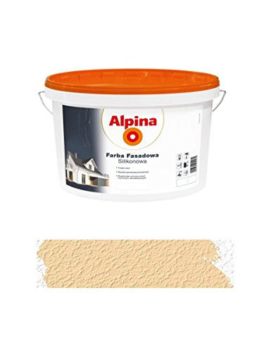Alpina 2,5 L Silikon-Fassadenfarbe außen Migdalowa, Mandel, Creme matt