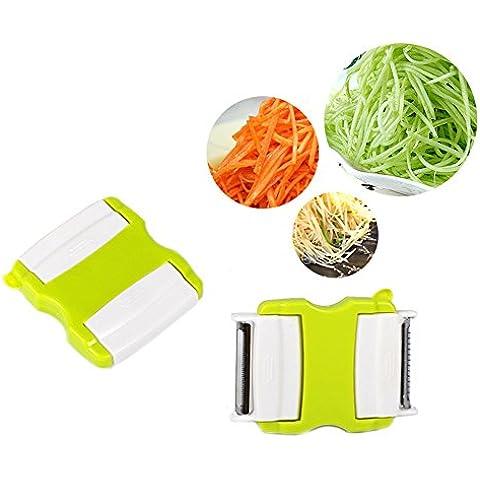 lesunhug (TM) 2in 1Strumenti di cottura Peeler grattugia patate affettatrice Cutter frutta e verdura Tools Apple Casa Accessori Cucina Gadget