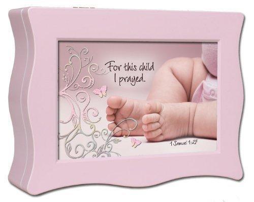 Music Box - Baby Feet w/Scripture/Jesus Loves Me - Wavy - Pnk by Cottage Garden