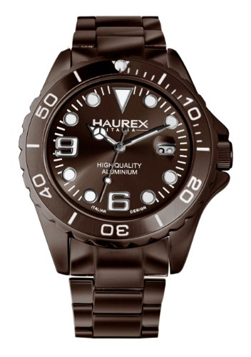 Haurex Italy Herren-Armbanduhr XL Ink Gent Analog Edelstahl 7K374UMM