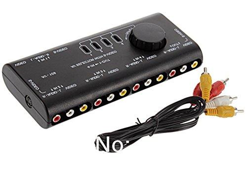 SaySure - 1Set 4 in 1 AV Audio Video Signal Switcher Splitter
