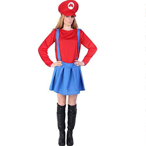 Halloween Kostüm Halloween-Kostüm - Polyester, Erwachsene Kinder Eltern-Kind-Super-Mario-Kleidung, geeignet für Urlaub zeigt, COS Parteien, Halloween. (Farbe : Adult)