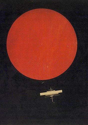 IIya Chashnik Cosmos. Círculo Rojo con Negro Avión c1925250gsm A3brillante tarjeta de arte reproducción Vintage futurismo Póster