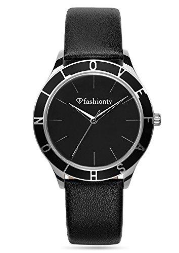 fashion-tv-paris-femme-montre-bracelet-marques-sportif-analogique-quartz-montre-noir-argent