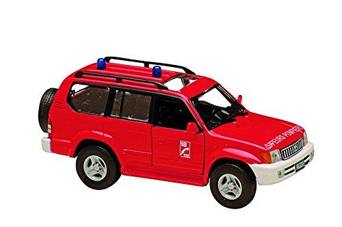 Dickie-Schuco-421501070-Solido-Toyota-Land-Cruiser-2000-143-rot