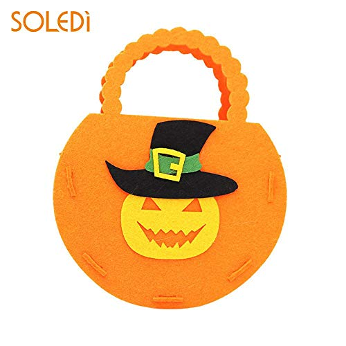 HITSAN INCORPORATION Halloween Candy Bag Hand Bag Cartoon Pumpkin Shape Nonwoven Halloween Gift Festive Party Supplies Cosplay Drop Shipping Color Pumpkin