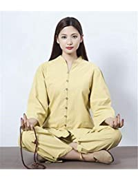 peiwen Women  s Yoga Wear Chino Natural de algodón y Lino Costume Deportes 9fbc7801bb06
