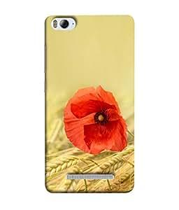 PrintVisa Designer Back Case Cover for Xiaomi Redmi 4A (Cute Red Flower In The Wheat Field)