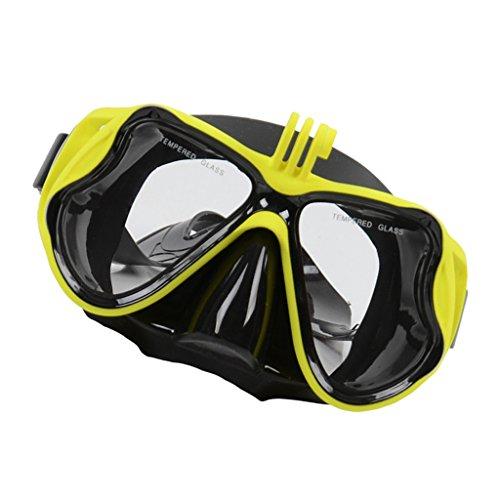 Baoblaze Schnorchelmaske Taucherbrille Tauchermaske Schwimmbrille mit Kamera Halterung für...