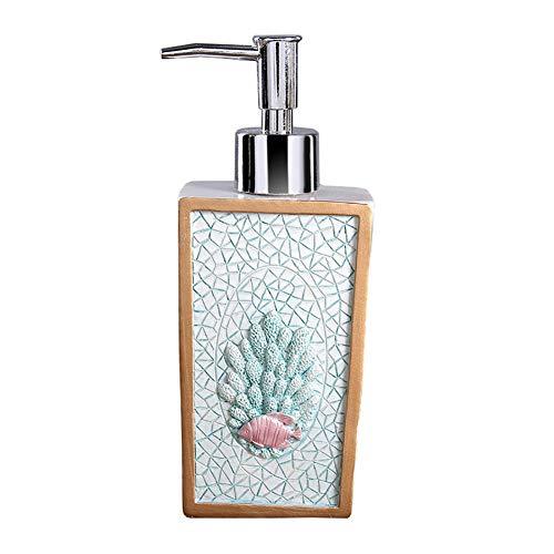 GBNIRE Küche Bad Flüssigseifenspender, Lotion-Seife-Pumpflaschen, rostfrei Edelstahlpumpe, ideal für Seife & Lotion (Farbe : Blau)