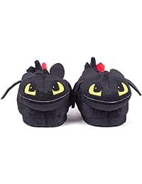 Sleeper'z - Chaussons Peluche Krokmou - Dragons - Homme Femme Enfant - Cadeau Original - Officiel DreamWorks