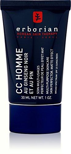 ERBORIAN CC Crème Homme Soin Multi-Usagers Perfector de Peau Effet Mat, 30 ml