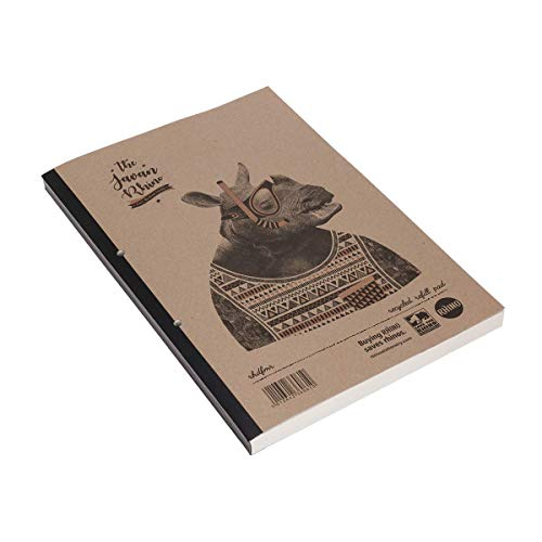 Rhino RHDFMR-2 - Cuaderno (papel reciclado, A4, 320 páginas), diseño Save The Rhino