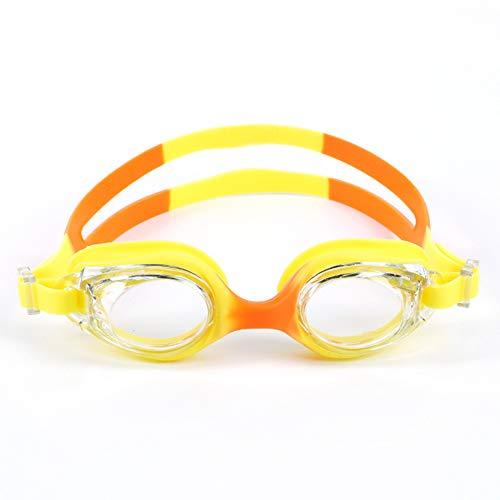 Depory Schwimmbrille Antibeschlag Schwimmbrillen UV Schutz Kein Auslaufen für Kinder Gelb Orange