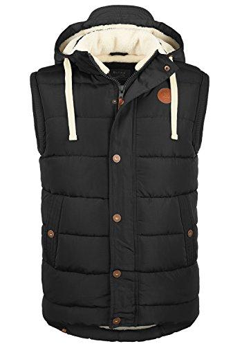 BLEND Frediano Herren Weste mit Stehkragen und Kapuze aus hochwertiger Materialqualität, Größe:XL, Farbe:Black (70155)