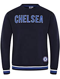 3183d4354aa Chelsea FC Official Football Gift Mens Crest Sweatshirt Top Navy Blue