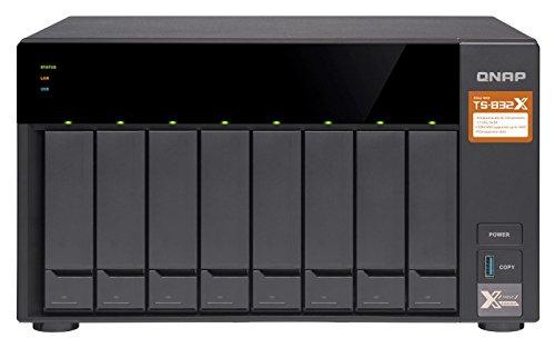 QNAP TS-832X NAS Torre Ethernet Negro - Unidad Raid