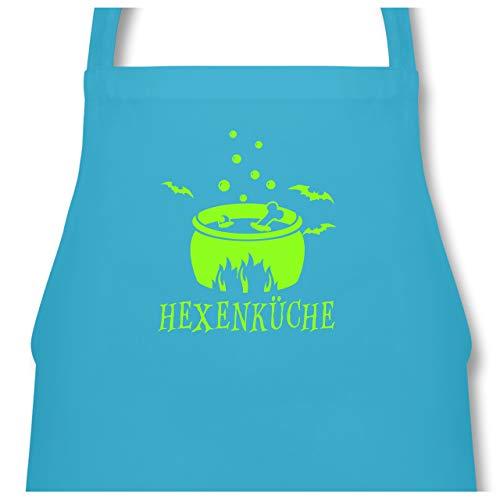 Shirtracer Küche - Hexenküche - 60 x 87 cm (B x H) - Hellblau - PW102 - Kochschürze für Männer und Damen