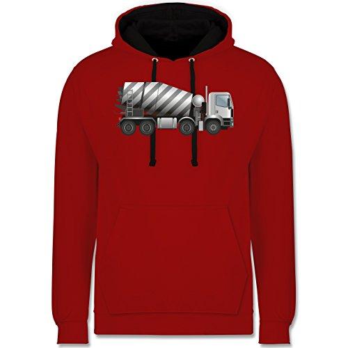 andere-fahrzeuge-betonmischer-fahrmischer-s-rot-schwarz-jh003-unisex-damen-herren-kontrast-hoodie