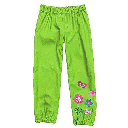 Kinder Winddichte & wasserdichte Regenjacke Hose Trouse Green / 90cm 30 Rainsuit