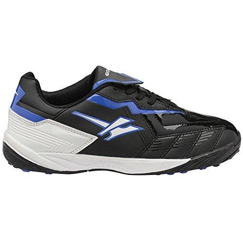 Gola Net - Chaussures de foot pour terrain synthétique - Garçon Noir/Jaune