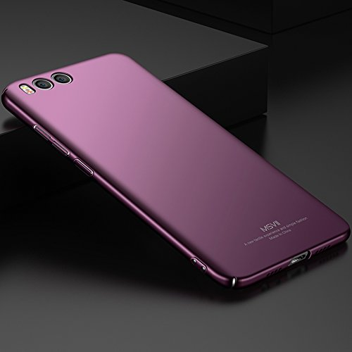 Xiaomi Mi 6 Hülle, MSVII® Sehr Dünn Hülle Schutzhülle Case Und Displayschutzfolie für Xiaomi Mi 6 - Lila JY00298 Lila