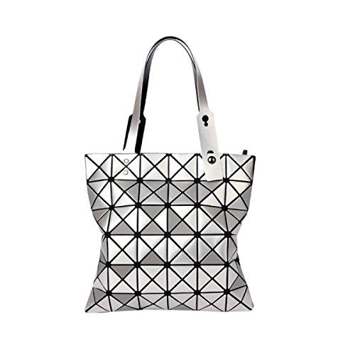 Handtaschen 2017 Neu Diamantgitter Handtasche Falten Lasergehäuse Silver