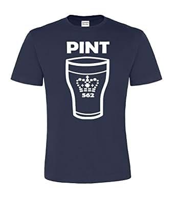 Navy t-shirt Small 'Pint' t-shirt