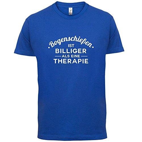 Bogenschiessen ist billiger als eine Therapie - Herren T-Shirt - 13 Farben  Royalblau