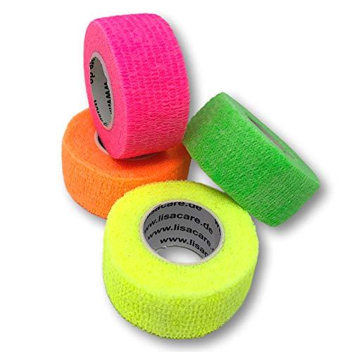LisaCare Fingerpflaster selbsthaftend - elastisches, wasserfestes, staub- fett- und schmutzabweisendes Pflaster - Farbmix 2