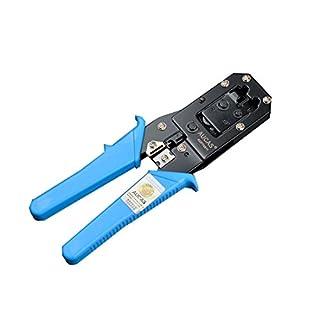 RJ45 RJ11 Netzwerk Kabel Werkzeug Cat6 Netzwerk Crimpwerkzeug Crimper Zangen Werkzeuge + 10PCS RJ45 Stecker und Blade