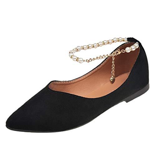 Yesmile Damen Mode Schuhe Flache Mundschuhe Damen Slip-On Schuhe Spitze Zehenschuhe Flache Schuhe Frühling Einzelne Schuhe Elegante High Heels Damen Pumps Party Hochzeit Schuhe Trendy Abendschuh