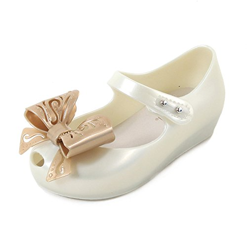 Melissa Mini Infants Ultragirl Fairy Bow Plastic Flat Pearl-Pearl-6 Size 6