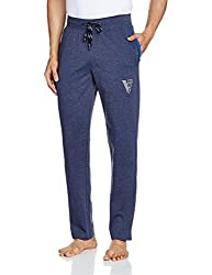 Van Heusen Mens Cotton Rich Track Pant (8907522408524_50043_XX-Large_Blue Melange)