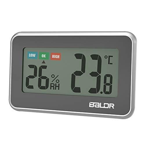 Mini termómetro digital LCD para interiores, higrómetro con indicación de confort, medidor de humedad...
