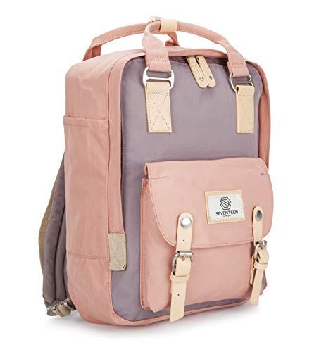 SEVENTEEN LONDON – Moderner, einfacher und Unisex 'Marylebone' Rucksack in rosa und grau mit Einem klassischen Design im Skandi-Stil ...