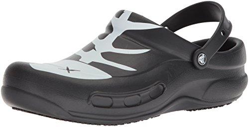 crocs Bistro Graphic Clog, Unisex - Erwachsene Clogs, Schwarz (Black/White/Black), 39/40 EU