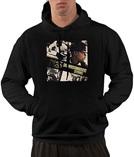 SKDJFBUD Men\'s Novelty Hoodies Activewear Top Hoodies Men\'s Hoody NAS The Lost Tapes 2 Comfort Leisure Mens Hoodie Sweatshirt M