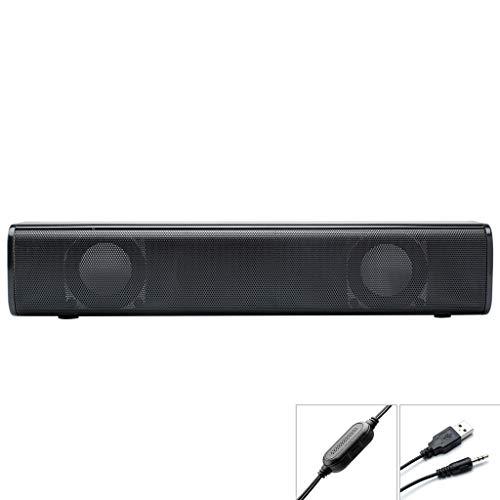 Aisumi Desktop Strip Soundbar-Lautsprecher Mit 3,5 Mm Stereo-Lautstärkeregler Und Stromversorgung über USB Für PC, Laptop, Handy, Tablet, MP3