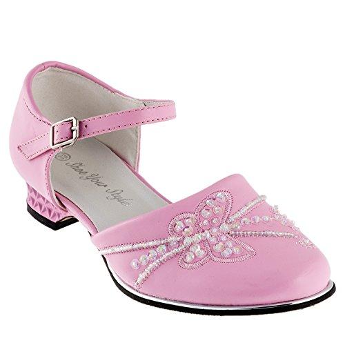 Festlicher Mädchen und Damen Schuh #407 Rosa