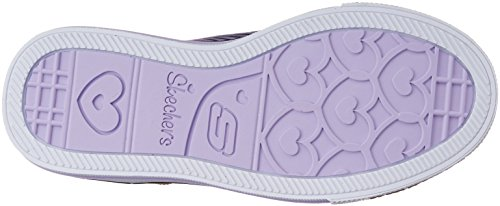 Twinkle Toes By Skechers Shuffles-Fresh N Fab Synthétique Baskets Black-Lavender