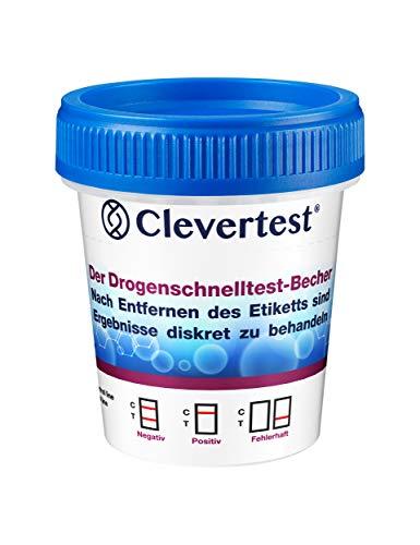 Clevertest Multi Drogentest Für 5 Drogen Arten - Professioneller Drogenschnelltest Im Sterilen - Schnelltest Drogentest