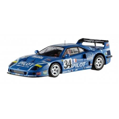 Hotwheels Elite X5508- Ferrari F40 Competizione Le Mans'95, escala 1/43 Color azul