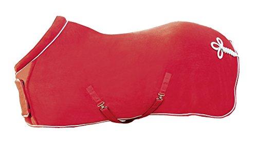 HKM 72243000.0027 Fleecedecke mit Kragen, rot