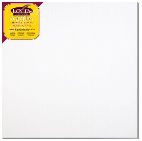 Loxley Gold LCC-3636 - Lienzo preestirado, color blanco